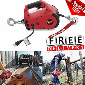 Warn Winch Come Along Puller 120v Hoist Cable Electric Hook Truck Atv Tool New