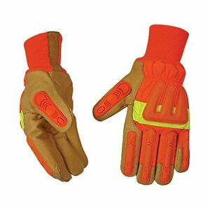 Kinco 1938kwa l Men s Impact Protection High Visibility Lined Pigskin Gloves