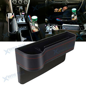 Leather Car Console Seat Seam Candy Catcher Cup Card Phone Organizer Side Pocket