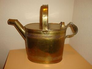 Antique 6 Pint Brass Water Can With Registered Trade Mark