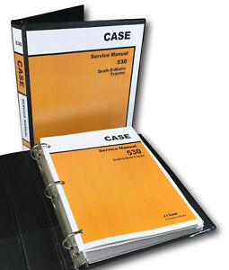 Case 530 Draft o matic Tractor Service Manual Technical Shop Book Overhaul