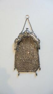 Sterling Silver Mesh Art Nouveau Handbag R Blackinton C 1900
