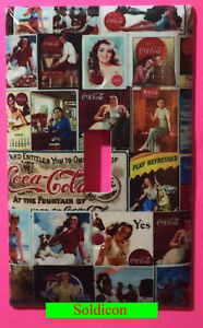 Coke Coca Cola Old poster Light Switch Power Outlet wall Cover Plate Home decor