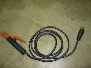 Stick Arc Welder Electrode Holder Cable Lincoln Electric 9 Long New old Stock
