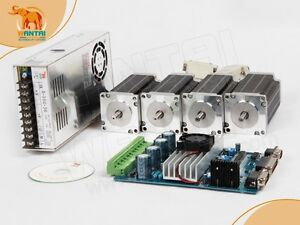 usa Ship7 Free 4axis 3d Cnc Nema 23 Wantai Stepper Motor 270oz in 3 0a Driver