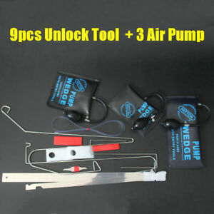New Universal Car Door Key Lost Lock Out Emergency Open Unlock Tool Air Pump Kit