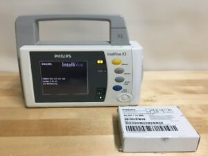 Philips X2 Intellivue Patient Monitor Brand New Battery A01c06 M3002a Mp2
