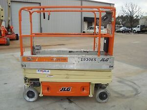 Jlg 1930es Scissor Lift Year 2008 19 Feet H X 30 Inches W 19 H Electric