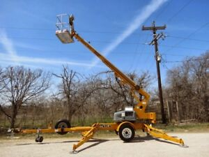 Biljax 3632t Towable Boom Lift 42 Height 27 Outreach Special Pricing
