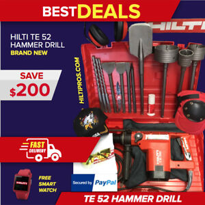 Hilti Te 52 Hammer Drill Brand New Free Smart Watch Core Bits Fast Ship