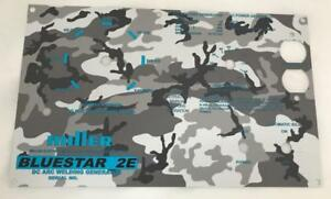 Miller Arc Welder Aluminum Bluestar 2e Control Plate With Camouflage Background