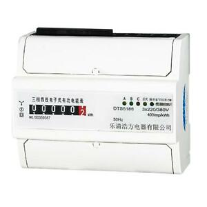 Din rail 3 Phase 4 Wire Kilowatt Hour Electricity Meter 80a Remote Control