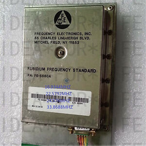 Used Good Original Fe 5680a Output 8 3886mhz Rubidium Atomic Frequency Standard