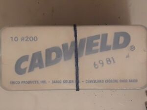 new lot of 20 erico cadweld 200 weld metal welding material tubes