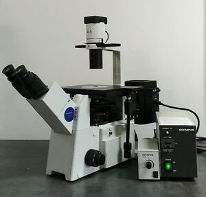 Olympus Microscope Ix51 With Fluorescence And Phase Contrast