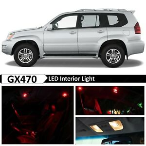 19x Red Interior License Plate Led Light Package Kit Fit 2004 2009 Lexus Gx470