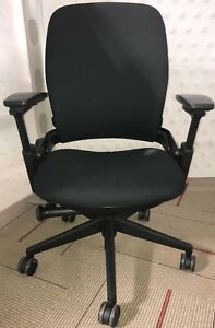 Steelcase Leap Black Task Desk Office Chairs Fully Assembled