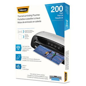 Fellowes Laminating Pouches Letter Size Hot Pouch 9 X 11 5 3 Mil 200 Pack