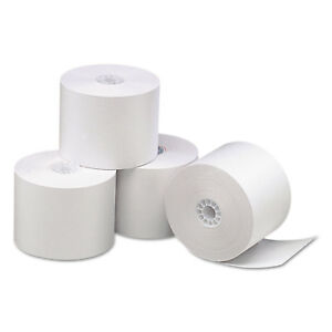 Pm Company Direct Thermal Printing Thermal Paper Rolls 2 1 4 X 165 Ft White 50