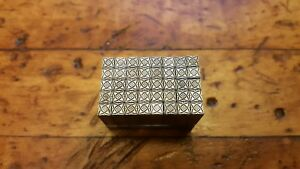 40 Letterpress Small Metal Type Border Atomic Design Print Block Dingbat Nice