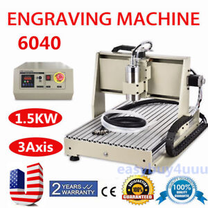 3axis Cnc 6040 Engraving Machine Pvc Pcb Milling Wood Carving Router 1500w Vfd