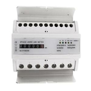 Din rail 3 Phase 4 Wire Kilowatt Hour Electricity Meter 40a Remote Control