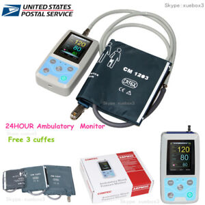 Nibp Monitor 24 Hour Ambulatory Blood Pressure Monitor Holter software Abpm 50