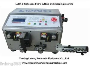 Llbx 9 High speed Wire Cutting Stripping Machine Cable Stripping For Awg16 28