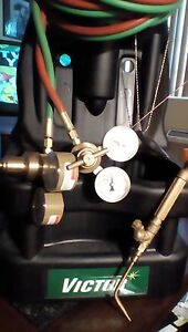 Victor Torches And Victor Portable Black Stand Lightly Used