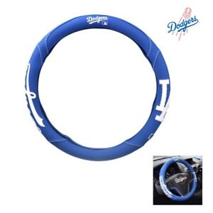 Mlb La Dodgers Car Handle Cover 370mm 14 5 Steering Wheel Cover Blue