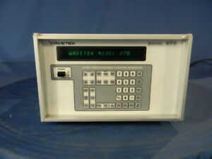 Wavetek 270 Function Generator With Option 002 30 Day Warranty