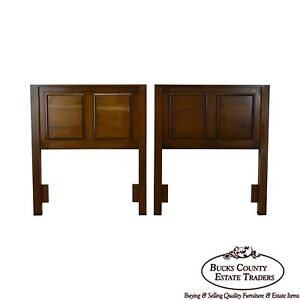 Restoration Hardware Pair Of Cherry Wood Raised Panel Twin Headboards