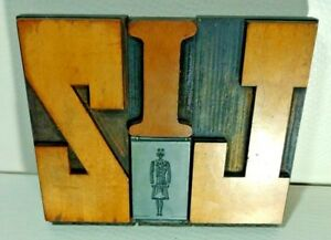 Liz Letterpress Wood Letter Mixed Printing Block Set wooden Type One Of A Kind