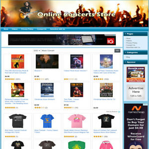 Concert Music Make Money Affiliate Website Easy To Setup Online Business
