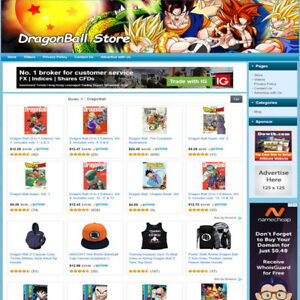 Dragonball Store Professional Designed Website Work At Home Make Money Online