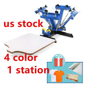Usa 4 Color 1 Station Silk Screen Printing Machine 4 1 Press Diy T shirt Print