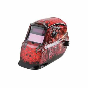Lincoln K2933 1 Grunge 9 13 Auto Darkening Welding Helmet Series 600s Red Black