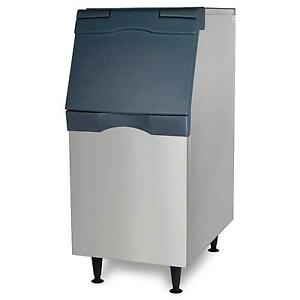Scotsman B322s Ice Storage Bin 370lb Top Hinged 22 Stainless Exterior