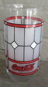 Vintage Coca-Cola Glass Tumbler Tiffany Style