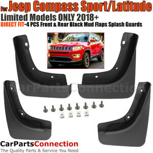 Front Rear Mud Flaps Splash Guards 2018 2019 For Jeep Compass Latitude