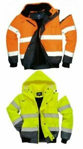 Portwest Uc465 High visibility 3 in 1 Bomber Jacket Yellow Or Orange M 6xl