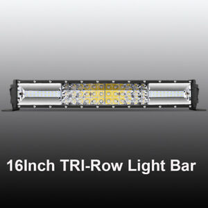Cree 17inch 432w Led Light Bar Dual Color Combo Offroad Driving 4wd Tractor 18