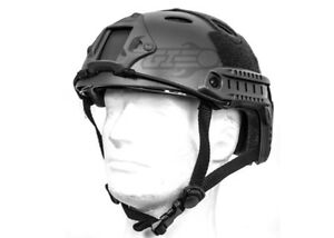 Lancer Tactical PJ Type Basic Version Helmet w Retractable Visor (Black) 15605