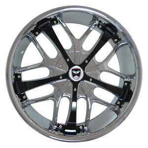 4 Gwg Wheels 18 Inch Chrome Black Savanti Rims Fits Chevy Cavalier 2000 2005