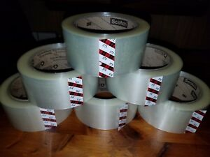 3m 371 Scotch 18 Rolls Clear Packaging Tape 2 x110y 48mmx100m Carton Sealing Box