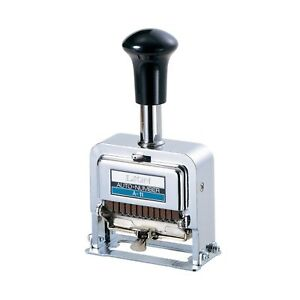 Lion Pro line Heavy duty Automatic Numbering Machine 12 wheel 1 Numberi New