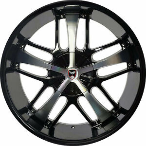 4 Gwg Wheels 20 Inch Black Machined Savanti Rims Fits Chevy Malibu 2000 2003