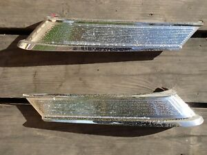 1963 63 Mercury Comet Sedan Roof Quarter Chrome Trim Molding Pair