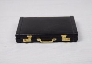 Vintage Collectible Pocket Business Name Credit Id Card Holder Leather Suitcase