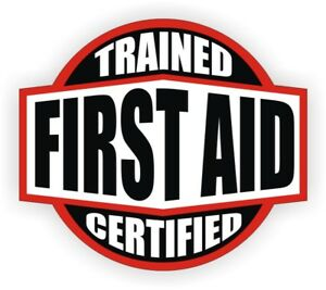 First Aid Trained Certified Hard Hat Decal Helmet Sticker Emt Rescue Firefighter